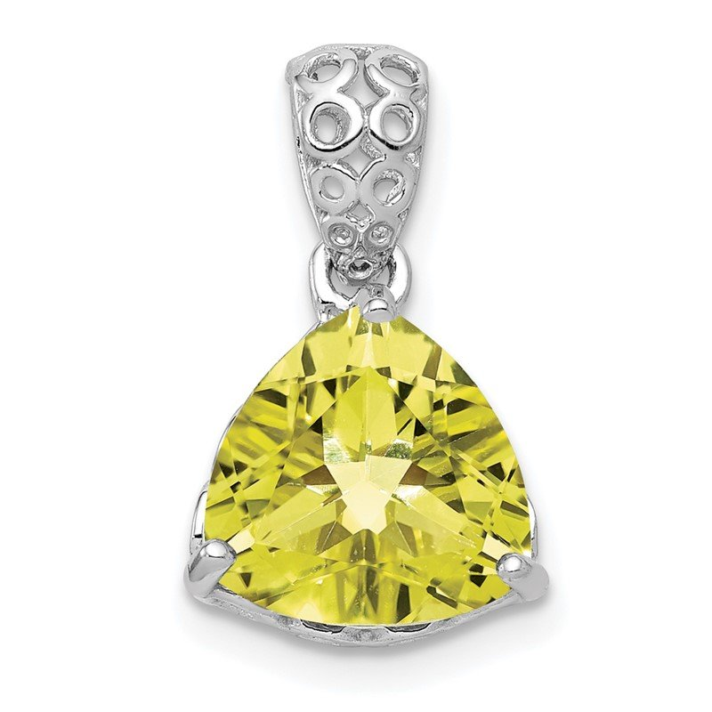 Lester Martin Online Collection Sterling Silver Rhodium-plated Lemon Quartz Pendant