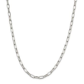 Sterling Silver 5mm Elongated Open Link Chain