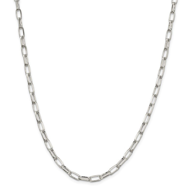 Quality Gold Sterling Silver 5mm Elongated Open Link Chain