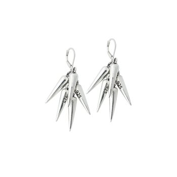 Multi Spike Leverback Earring