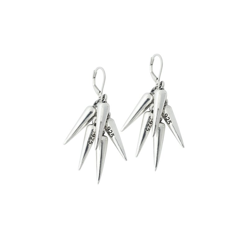 King Baby Multi Spike Leverback Earring