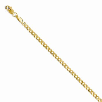 Leslies 14k 2.9mm Beveled Curb Chain
