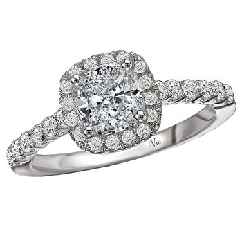 Halo Semi Mount Diamond RIng