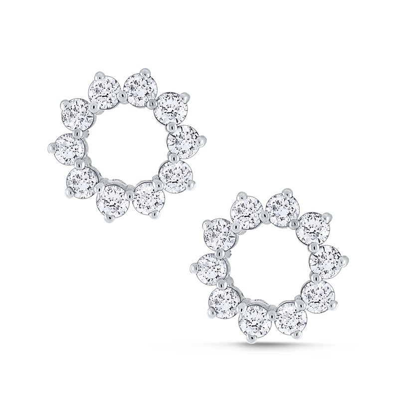 MAZZARESE Fashion Diamond Circle Earrings Set in 14 Kt. Gold