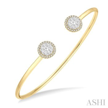 lovebright essential cuff open diamond bangle
