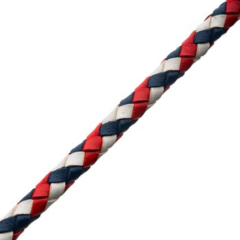 American Flag Braided Leather Bracelet