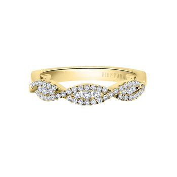 Twist Diamond Wedding Band