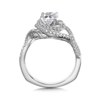 Valina Diamond Engagement Ring Mounting in 14K White Gold (0.42 ct. tw.)