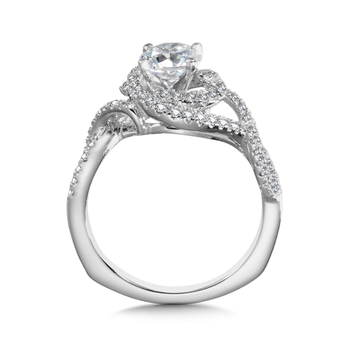 Diamond Engagement Ring Mounting in 14K White Gold (0.42 ct. tw.)