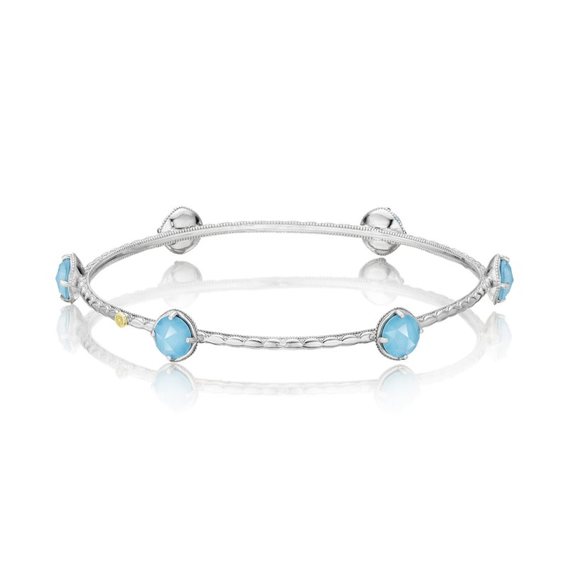 TACORI 6 Stone Clear Quartz layered over Neolite Turquoise Bracelet
