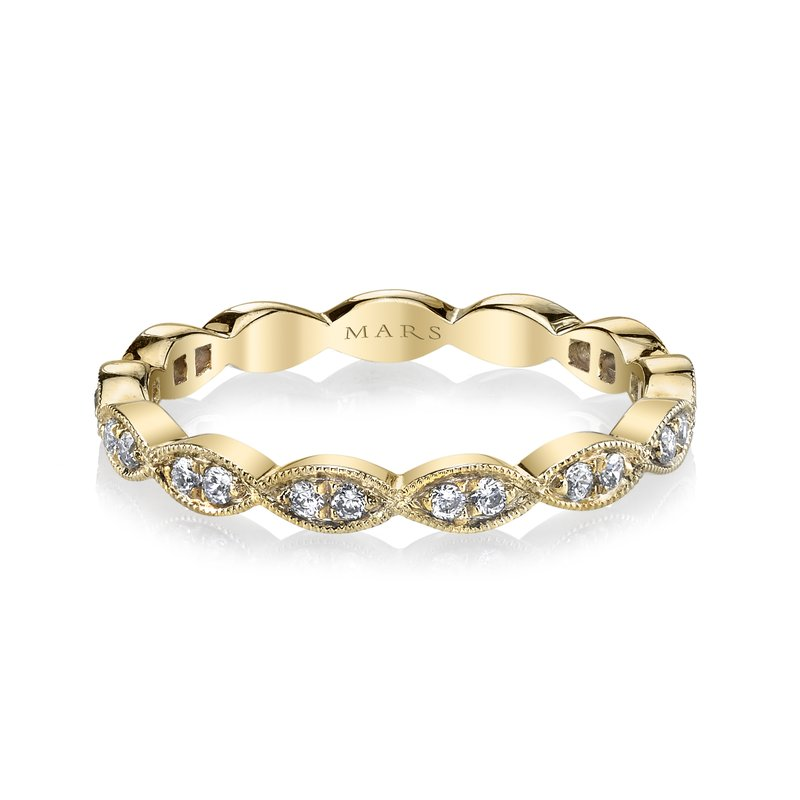 MARS Jewelry MARS 26183 Stackable Ring, 0.17 Ctw.