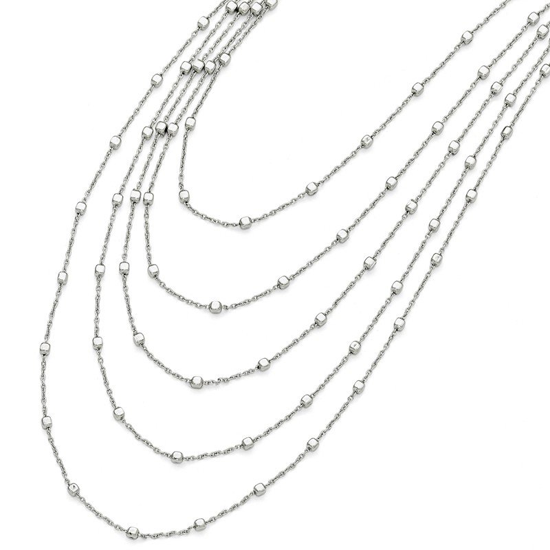 Leslie's Sterling Silver Polished Five Strand Necklace