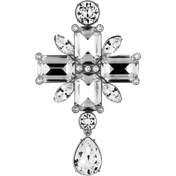 Anna Dello Russo Brooch, White, Palladium plated