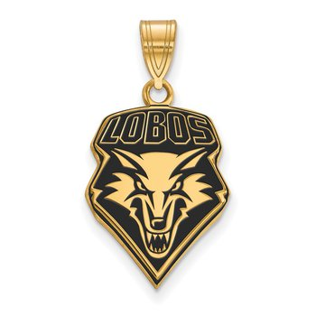 Gold-Plated Sterling Silver University of New Mexico NCAA Pendant