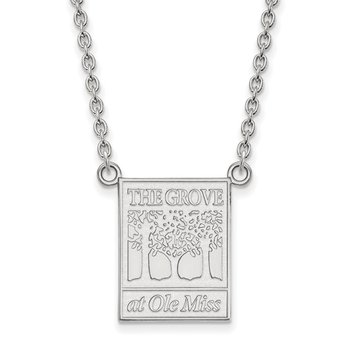 Sterling Silver University of Mississippi NCAA Necklace