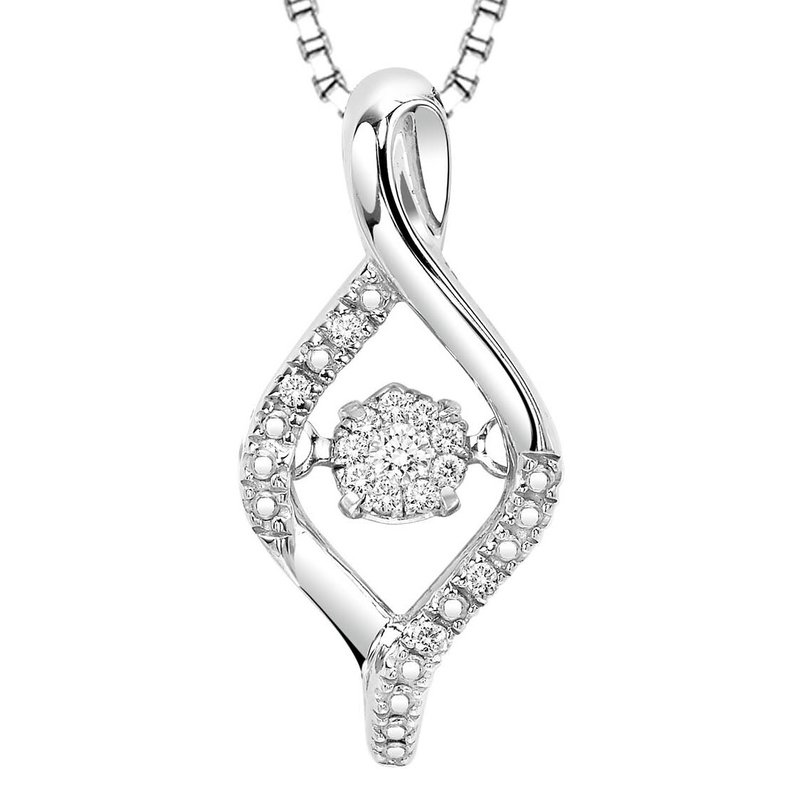 Rhythm of Love Silver Diamond Rhythm Of Love Pendant