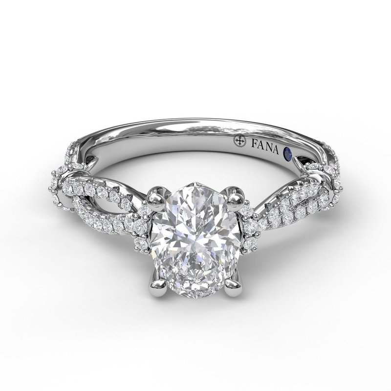 Fana Interwoven Engagement Ring with Delicate Diamond Accents