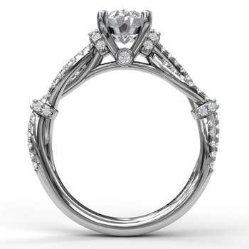 Interwoven Engagement Ring with Delicate Diamond Accents