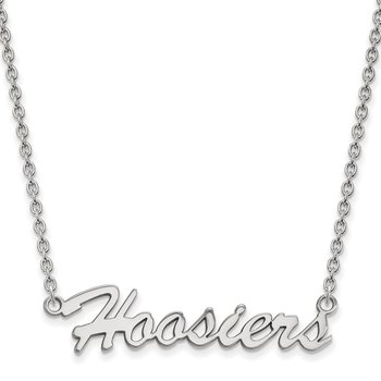 Sterling Silver Indiana University NCAA Necklace