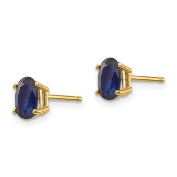 14k Sapphire Earrings - September
