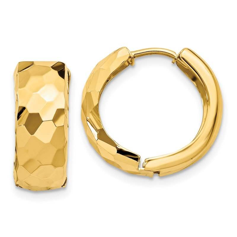 Lester Martin Online Collection 14k Faceted & Polished Hinged 6mm Hoop Earrings