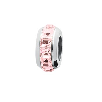 316L stainless steel and light rose Swarovski® Elements crystals