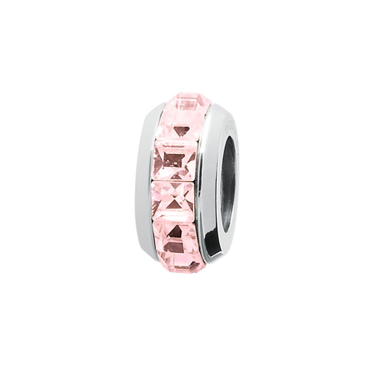 Brosway 316L stainless steel and light rose Swarovski® Elements crystals