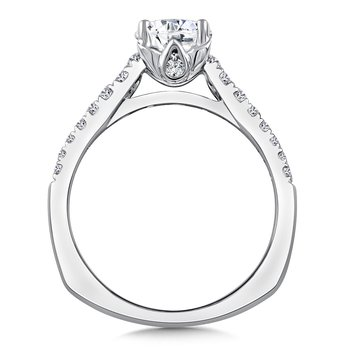 Diamond Engagement Ring Mounting in 14K White/Rose Gold (.35 ct. tw.)