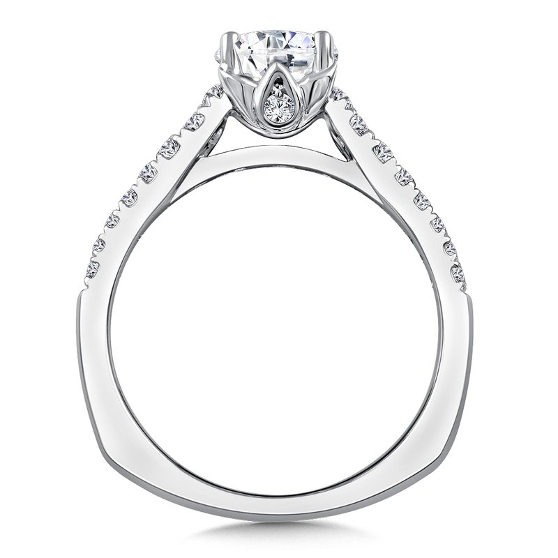Valina Diamond Engagement Ring Mounting in 14K White/Rose Gold (.35 ct. tw.)