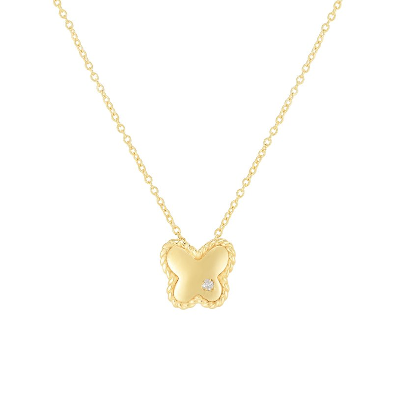 Royal Chain 14K Gold Diamond Butterfly Piccolini Pendant