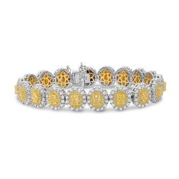 Oval Two-Tone Diamond Bracelet