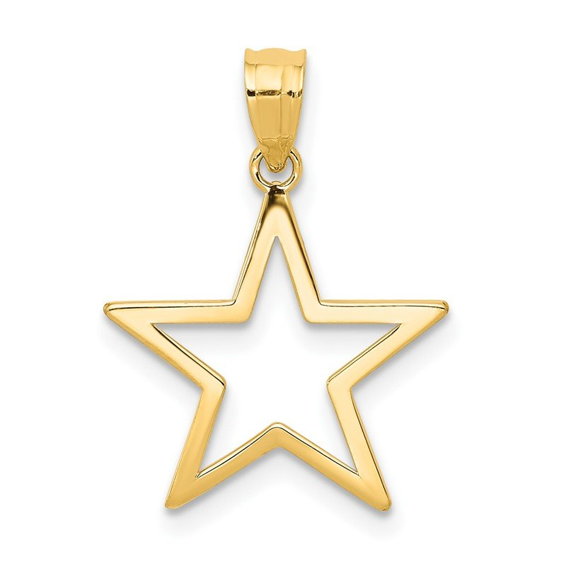 Quality Gold 14k Star Charm