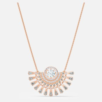 Swarovski Sparkling Dance Dial Up Necklace, Medium, Gray, Rose-gold tone plated