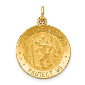 14k US Air Force Saint Christopher Medal Pendant