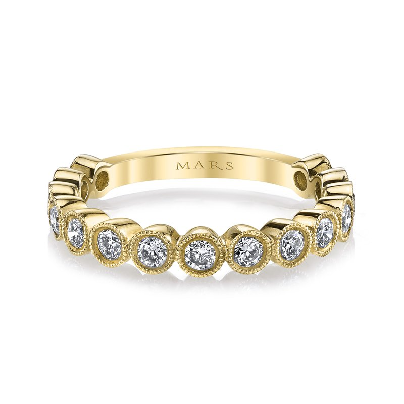 MARS Jewelry MARS 26185 Diamond Stackable Band, 0.77 Ctw.