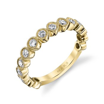 MARS 26185 Diamond Stackable Band, 0.77 Ctw.