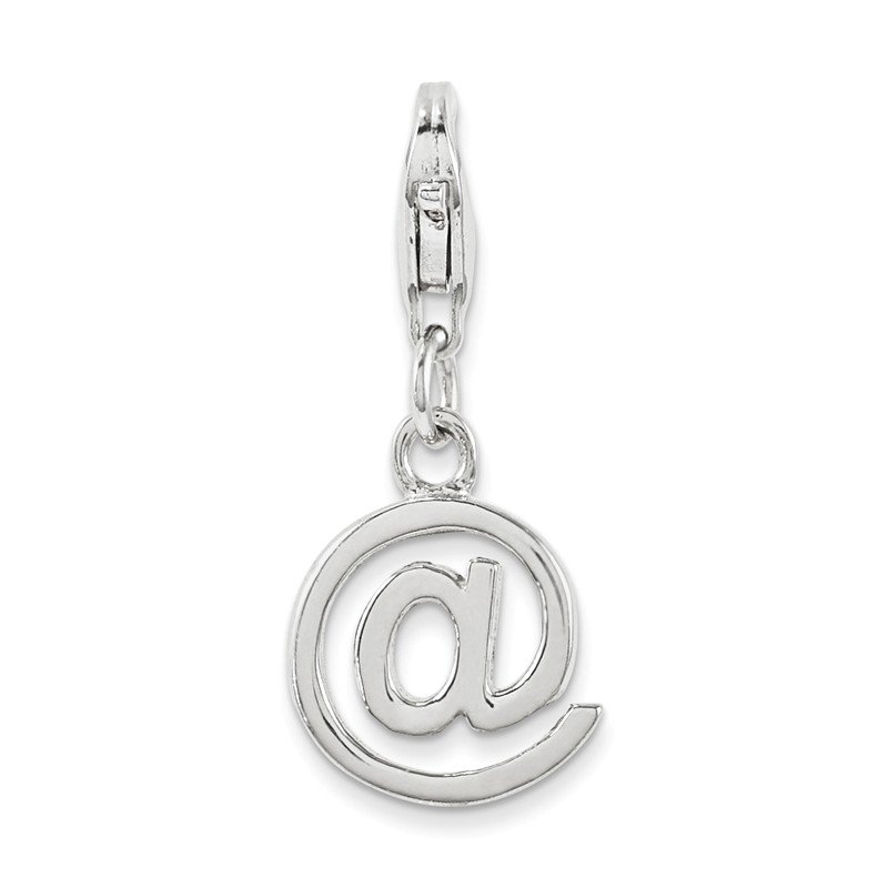 Quality Gold Sterling Silver Polished @ Sign Charm