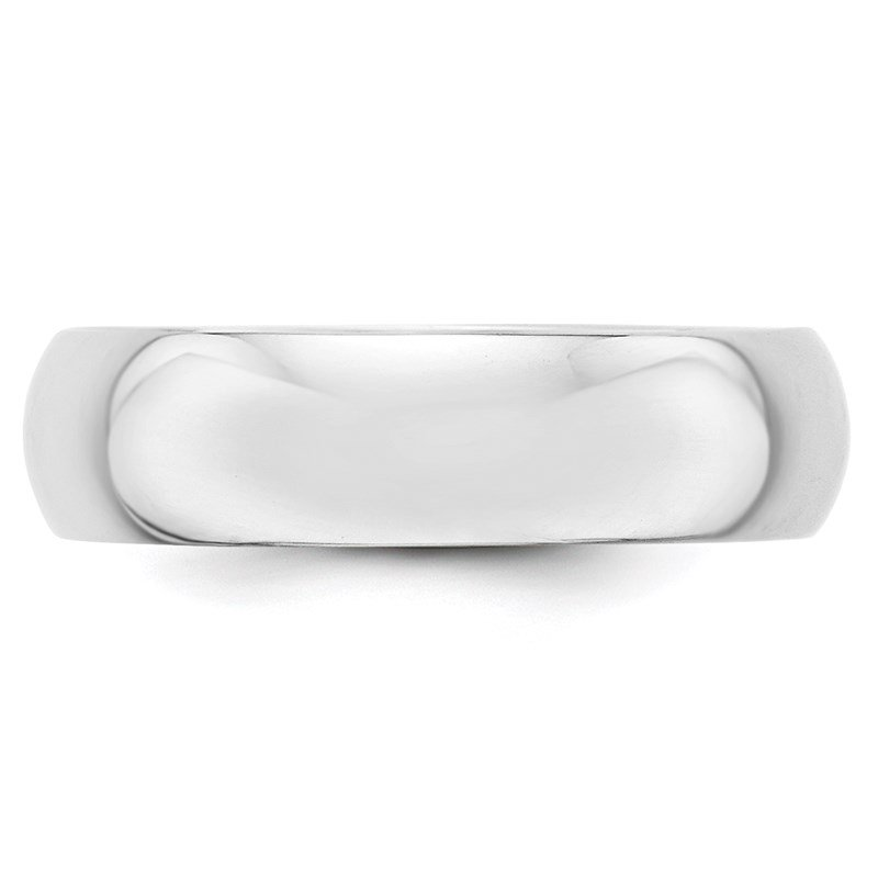 Quality Gold 14k White Gold 6mm Half-Round Band