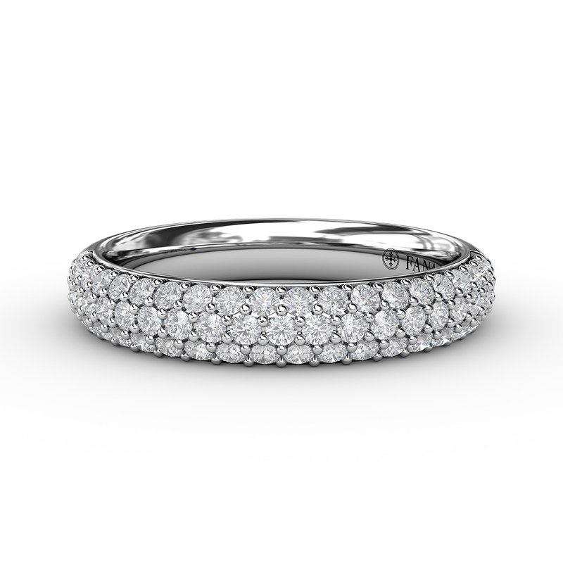 Domed Diamond Pave Band