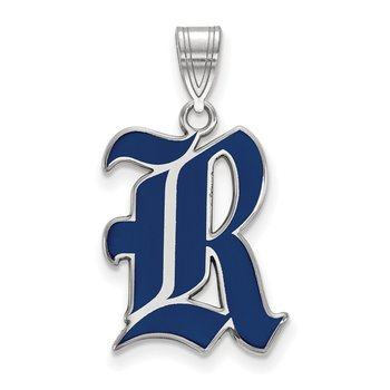 Sterling Silver Rice University NCAA Pendant