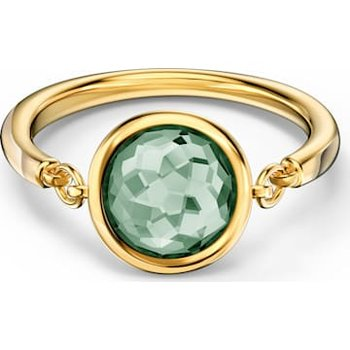 Tahlia Ring, Green, Gold-tone plated