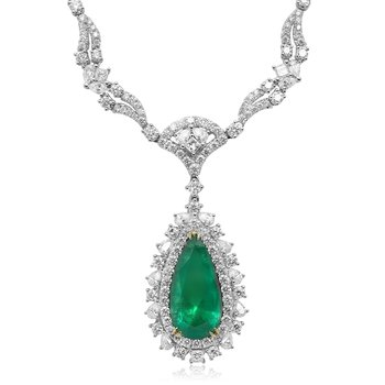 Intricate Gold & Emerald Necklace