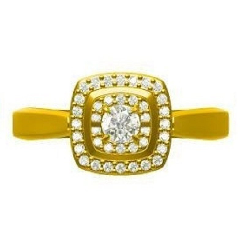 Necker's Signature Collection 14K Diamond Rhythm Of Love Ring 1/5 ctw