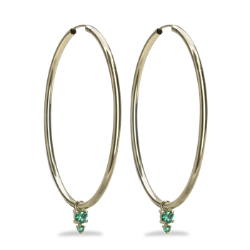 Dawson Emerald Hoop Earrings