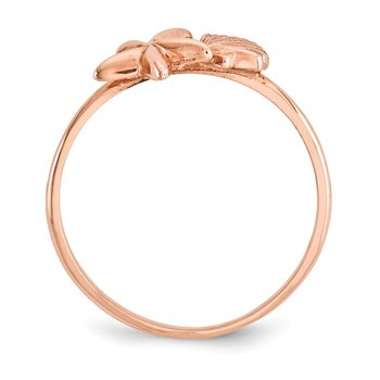 14k Rose Gold Polished Shell & Starfish Ring