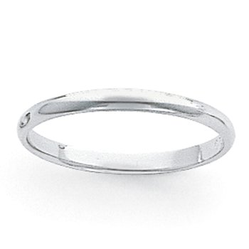 Platinum 3mm Half-Round Featherweight Band