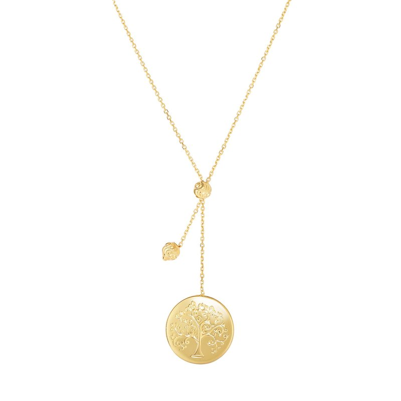 Royal Chain 14K Gold Tree of Life Lariat Necklace