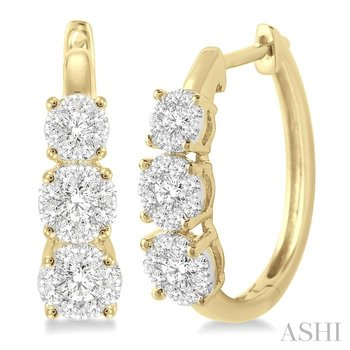 past present & future lovebright diamond hoop earrings