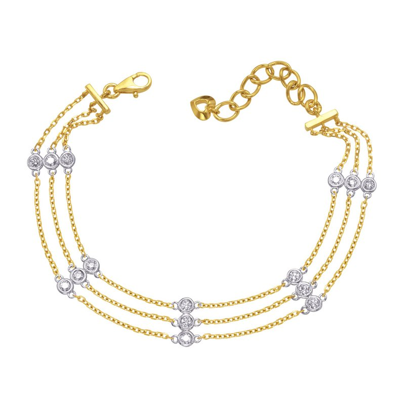 Briana Yellow Gold Diamond By The Yard Bracelet