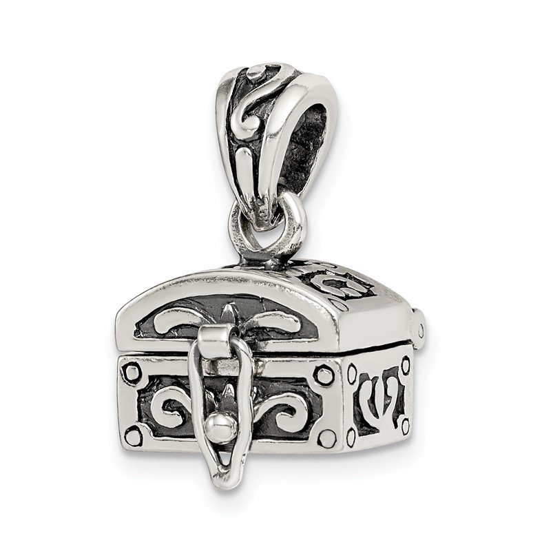 Quality Gold Sterling Silver Antiqued Chest Pendant